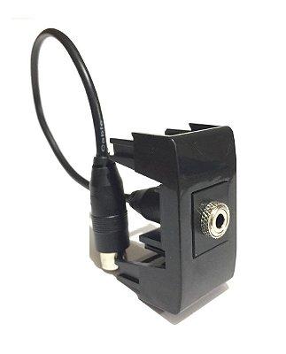 Keystone De Audio P2 10cm + Bloco de Encaixa Linha QM
