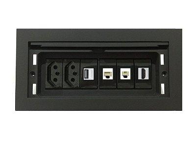 Painel Com Multi Conexões Para Mesas de Reuniões - QMF6-M40