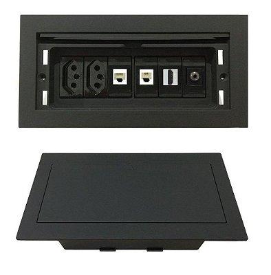 Caixa Painel Multi Conexões Para Mesas de Reuniões - QMF6-M42