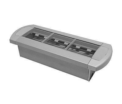 Régua De Tomada Para Mesas Em Alumínio Anodizado