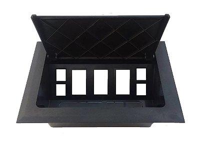 Caixa De Tomada Em ABS Para 3 Tomadas + Espaços - DXT-4P