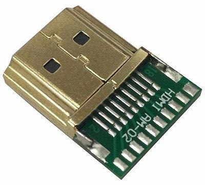 Conector Hdmi Para Soldar Reforçado - Novo Modelo Em Fibra