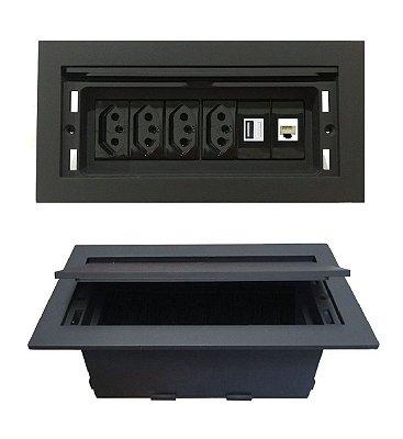 Caixa Tomada Completa Para Mesas Reuniões - QMF6-M80