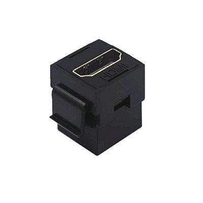 Conector Keystone Hdmi F/F Preto