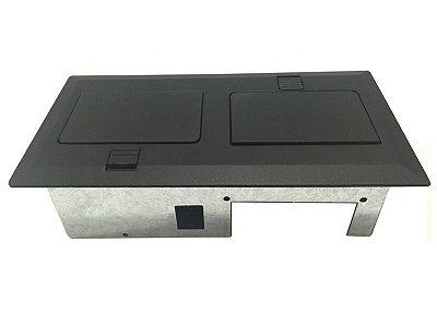 Caixa De Mesa Para 6 Conexões Abertura em Simetria