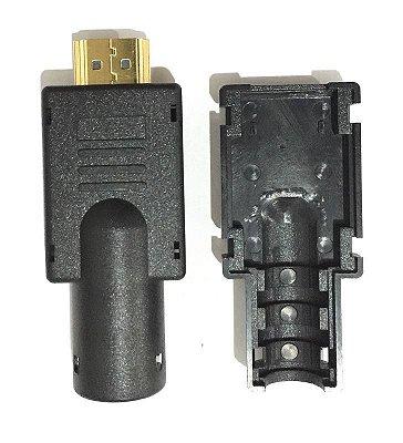Conector Hdmi Para Solda Com Placa De Fibra + Capa Abs