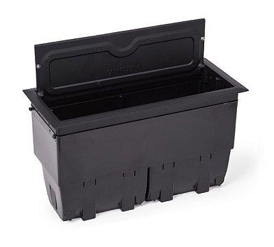 Caixa De Conexões Para Mesas Alumínio Pintado - QM175-M3