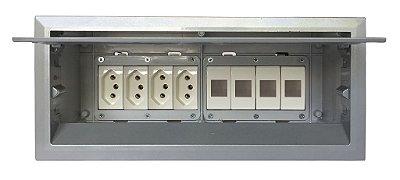 Tomadas Para Mesas + Espaços Para Conexões - QM175-M