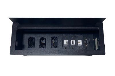 Caixa Tomada Para Mesas e Bancadas, 7 Módulos DM34-M1