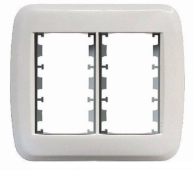Espelho De Parede 4x4 Para 6 Blocos De Conexões