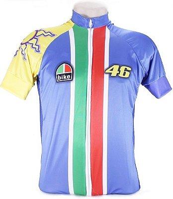 Camisa de Ciclismo Rossi Race 46 - Azul