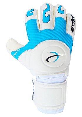 Luvas de Goleiro Arcitor Havik Rollfinger Finger Protection (Branco Azul Preto) Extended AW Elite
