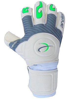 Luvas de Goleiro Arcitor Havik Rollfinger Finger Protection (Branco Cinza Verde) Extended AW Elite