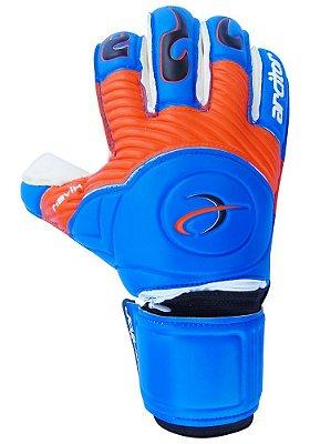 Luvas de Goleiro Arcitor Havik Rollfinger Finger Protection (Azul Laranja Preto) Extended AW Elite