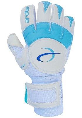 Luvas de Goleiro Arcitor Keras HTEX Flat (Branco Azul Claro) D-SOFT