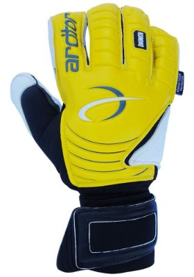 Luvas de Goleiro Arcitor Komino Finger Protection Hybrid Roll/Flat (Amarelo Preto) Neoprene AP PRO