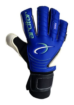 Luvas de Goleiro Arcitor Komino Finger Protection Hybrid Roll/Flat (Azul Preto) Neoprene AP PRO