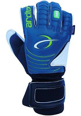 Luvas de Goleiro Arcitor Komino Finger Protection Hybrid Roll/Flat (Cinza Verde Preto) Neoprene AP PRO