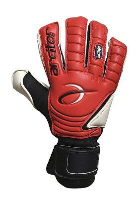 Luvas de Goleiro Arcitor Komino Finger Protection Hybrid Roll/Flat (Vermelho Preto) Neoprene AP PRO