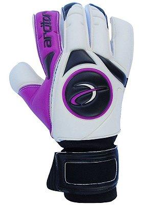 Luvas de Goleiro Arcitor Taganga Finger Protection Hybrid Roll/Flat (Roxo Branco Preto) GCF Elite