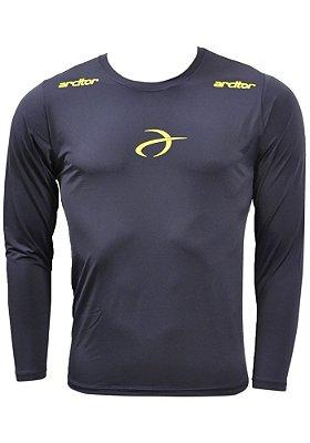 Camisa Térmica Arcitor Manga Longa (Azul Marinho e Amarelo)