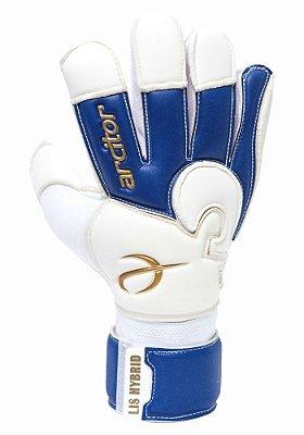 Luvas de Goleiro Arcitor Lis Hybrid (Branco Azul Royal Dourado) SCF Elite