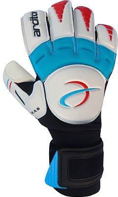 Luvas de Goleiro Arcitor Keras EVA Hybrid Roll/Flat (Branco Azul Vermelho) AW Elite