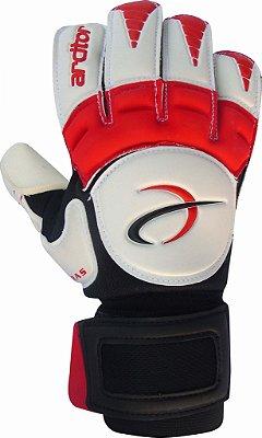 Luvas de Goleiro Arcitor Keras EVA Hybrid Roll/Flat (Branco Vermelho) AW Elite