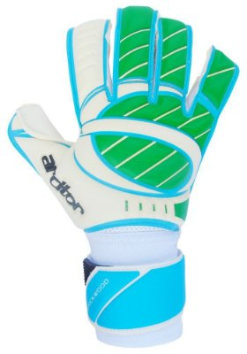 Luvas de Goleiro Arcitor Stockwood Hybrid Roll/Flat Special (Verde Azul Branco) SCF Elite