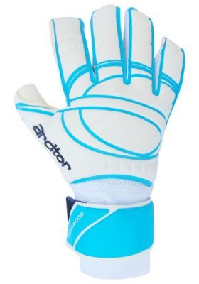 Luvas de Goleiro Arcitor Stockwood Hybrid Roll/Flat (Branco Azul) SCF Elite