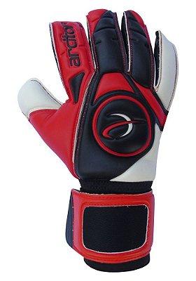 Luvas de Goleiro Arcitor Taganga Hybrid Roll/Negative (Vermelho Preto Branco) SCF Elite Preto Limited Edition