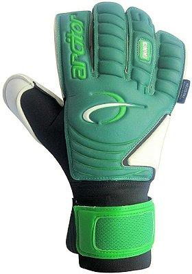 Luvas de Goleiro Arcitor Komino Finger Protection Hybrid Roll/Flat (Verde) Neoprene Extended AW Elite