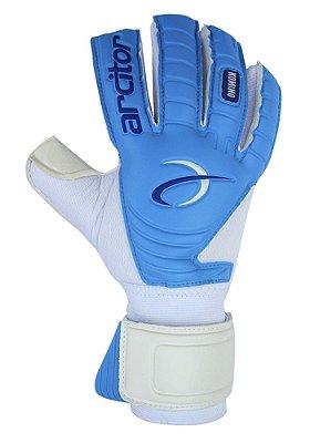 Luvas de Goleiro Arcitor Komino Negative (Branco Azul) SCF Elite
