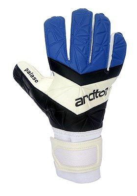 Luvas de Goleiro Arcitor Palaso Flat Semipro (Azul Royal Preto Branco) D-SOFT