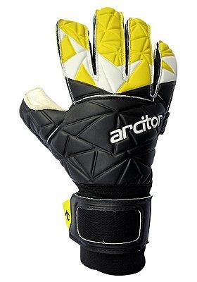 Luvas de Goleiro Arcitor Palaso Hybrid Roll/Negative (Preto Amarelo) SCF Elite