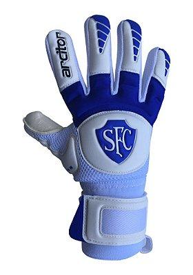 Luvas de Goleiro Arcitor Keras EVA Negative Edição Limitada Serrano FC (Branco Azul) SCF Elite