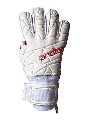 Luvas de Goleiro Arcitor Palaso Negative Finger Protection (Branco Vermelho) SCF Elite