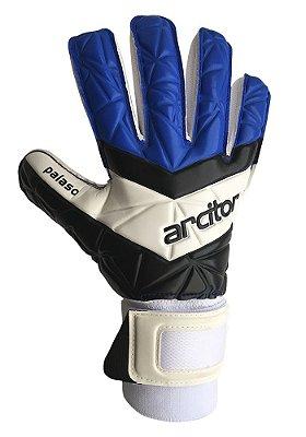 Luvas de Goleiro Arcitor Palaso Negative Finger Protection (Preto Azul) XW Elite