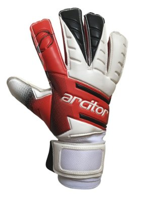 Luvas de Goleiro Arcitor Volka Flat Finger Protection Semipro (Vermelho Branco Preto) D-SOFT