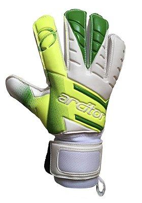 Luvas de Goleiro Arcitor Volka Flat Finger Protection (Verde-Limão Branco) D-SOFT 3mm