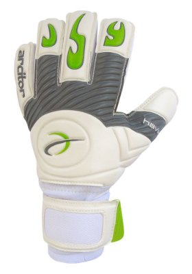 Luvas de Goleiro Arcitor Havik Negative Finger Protection (Branco Cinza Verde) D-SOFT 3.5mm