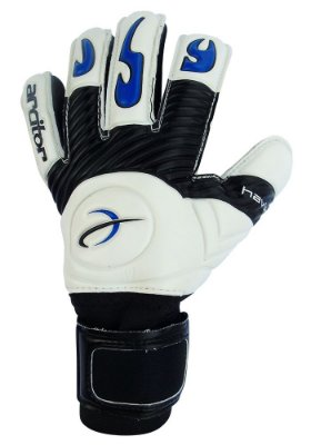 Luvas de Goleiro Arcitor Havik Negative Finger Protection Semipro (Branco Preto Azul Royal) D-SOFT