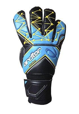 Luvas de Goleiro Arcitor Molekule Classic Flat (Preto Azul Amarelo) SW PRO