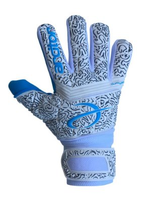 Luvas de Goleiro Arcitor Dumyat Negative Finger Support (Branco Azul Claro) D-SOFT 3.5mm