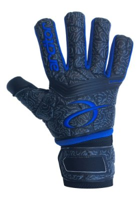 Luvas de Goleiro Arcitor Dumyat Negative Finger Support (Preto Azul Royal) D-SOFT 3.5mm