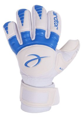 Luvas de Goleiro Arcitor Keras HTEX Negative (Branco Azul) D-SOFT 3mm