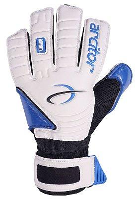 Luvas de Goleiro Arcitor Komino Flat (Branco Azul Royal) SCF Elite