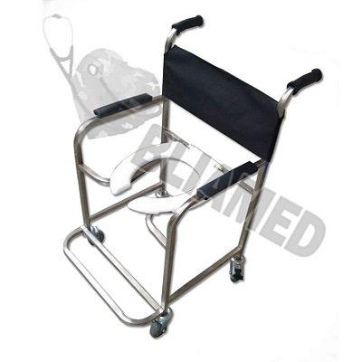 Cadeira de Banho Aço Inox - Obeso (até 120kg) Mod. Bliamed