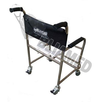 Cadeira de Banho Aço Inox - Obeso (até 120kg) Mod. Bliamed/ Venda e Valor  Exclusivo do site BLIAMED