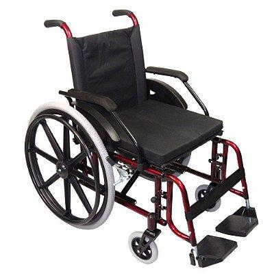 Aluguel Cadeira de Rodas Luxo Vinho Metálico 44 cm